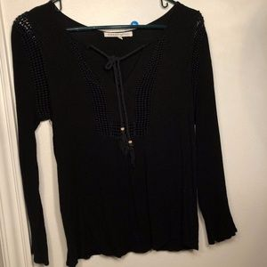 Black 3/4 sleeve blouse